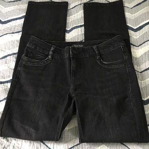 White House Black Market slim leg black jeans 6R